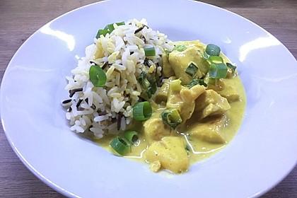 Hähnchen-Ananas-Curry mit Reis 20