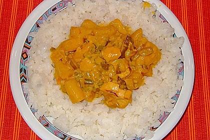 Hähnchen-Ananas-Curry mit Reis 56