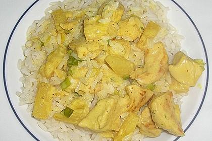 Hähnchen-Ananas-Curry mit Reis 93