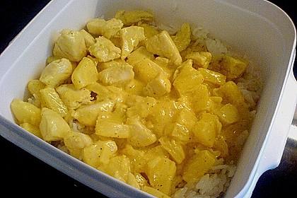 Hähnchen-Ananas-Curry mit Reis 89