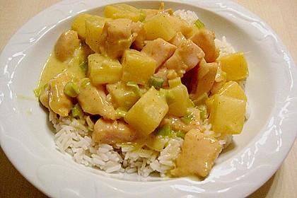 Hähnchen-Ananas-Curry mit Reis 35