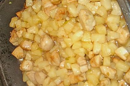 Hähnchen-Ananas-Curry mit Reis 117