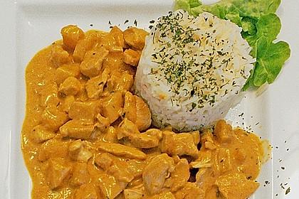 Hähnchen-Ananas-Curry mit Reis 16