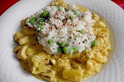 Hähnchen-Ananas-Curry mit Reis 3