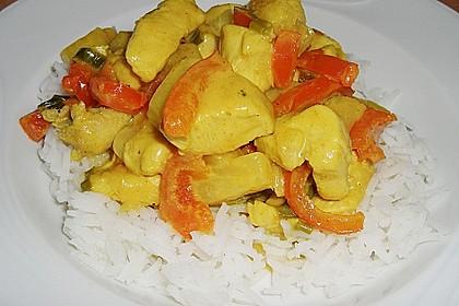 Hähnchen-Ananas-Curry mit Reis 42