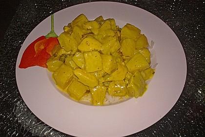 Hähnchen-Ananas-Curry mit Reis 88