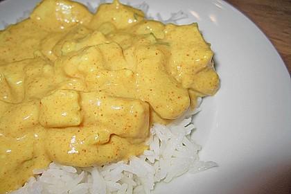 Hähnchen-Ananas-Curry mit Reis 64