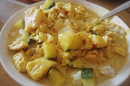 Hähnchen-Ananas-Curry mit Reis 113