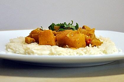 Hähnchen-Ananas-Curry mit Reis 11