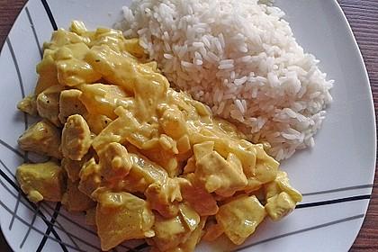 Hähnchen-Ananas-Curry mit Reis 17