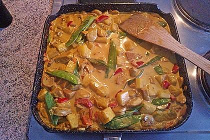 Hähnchen-Ananas-Curry mit Reis 30