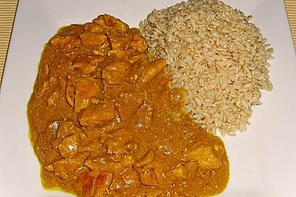 Hähnchen-Ananas-Curry mit Reis 92