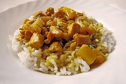 Hähnchen-Ananas-Curry mit Reis 4