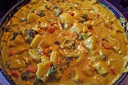Hähnchen-Ananas-Curry mit Reis 31