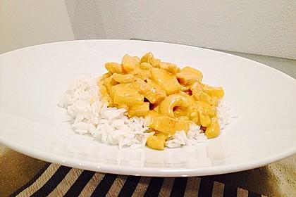 Hähnchen-Ananas-Curry mit Reis 44