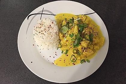 Hähnchen-Ananas-Curry mit Reis 7