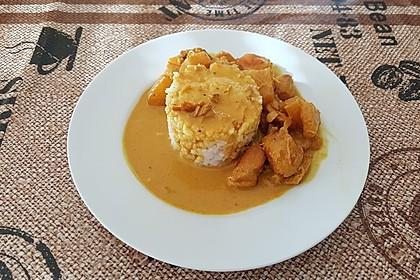 Hähnchen-Ananas-Curry mit Reis 46