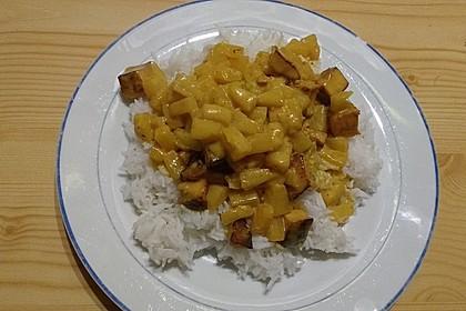 Hähnchen-Ananas-Curry mit Reis 58