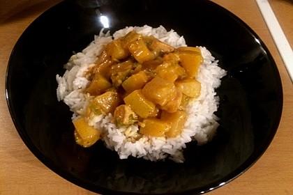 Hähnchen-Ananas-Curry mit Reis 40