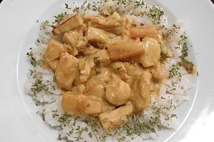 Hähnchen-Ananas-Curry mit Reis 123