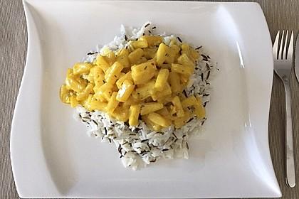 Hähnchen-Ananas-Curry mit Reis 19