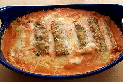Ischileins Cannelloni mit Spinat und Frischkäse 20