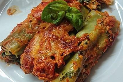 Ischileins Cannelloni mit Spinat und Frischkäse 21