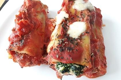 Ischileins Cannelloni mit Spinat und Frischkäse 47