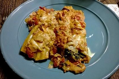 Ischileins Cannelloni mit Spinat und Frischkäse 13