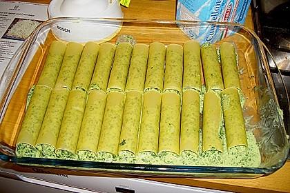 Ischileins Cannelloni mit Spinat und Frischkäse 11