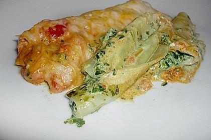 Ischileins Cannelloni mit Spinat und Frischkäse 39