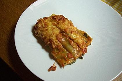 Ischileins Cannelloni mit Spinat und Frischkäse 82