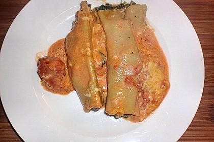 Ischileins Cannelloni mit Spinat und Frischkäse 76