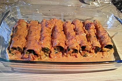 Ischileins Cannelloni mit Spinat und Frischkäse 59
