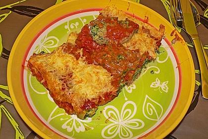 Ischileins Cannelloni mit Spinat und Frischkäse 55