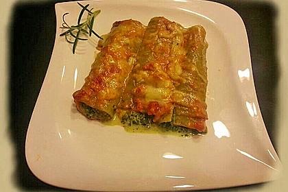Ischileins Cannelloni mit Spinat und Frischkäse 10