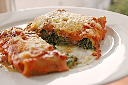 Ischileins Cannelloni mit Spinat und Frischkäse 2