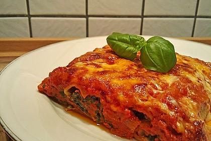 Ischileins Cannelloni mit Spinat und Frischkäse 8