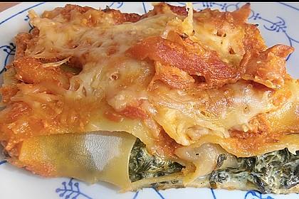 Ischileins Cannelloni mit Spinat und Frischkäse 14