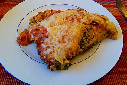 Ischileins Cannelloni mit Spinat und Frischkäse 19