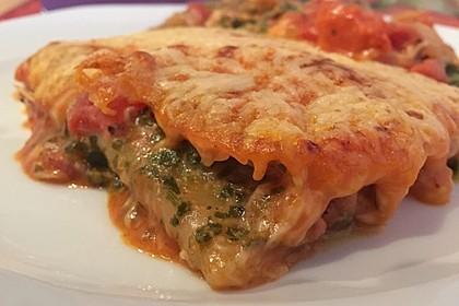Ischileins Cannelloni mit Spinat und Frischkäse 9