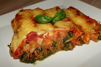 Ischileins Cannelloni mit Spinat und Frischkäse 3