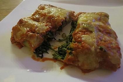 Ischileins Cannelloni mit Spinat und Frischkäse 4