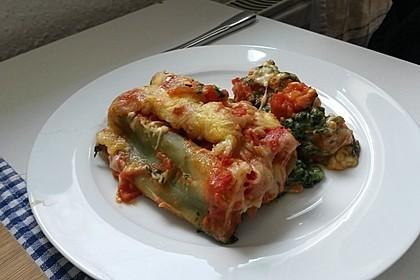 Ischileins Cannelloni mit Spinat und Frischkäse 28