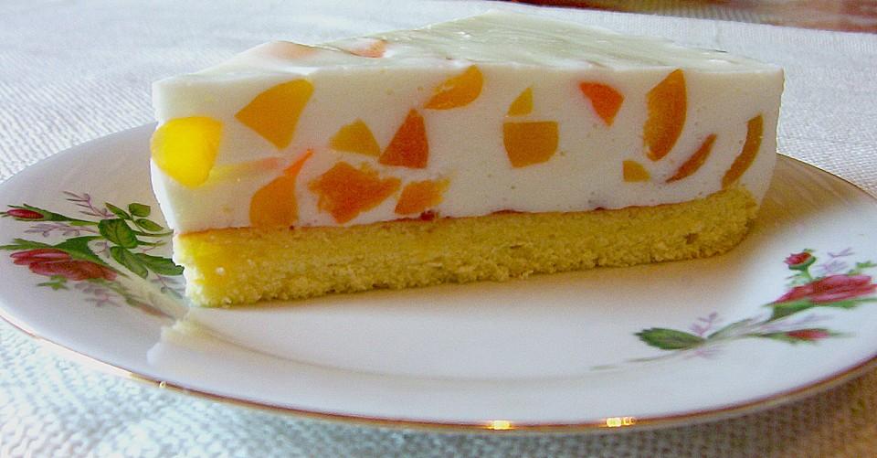 Topfen joghurt torte mit pfirsich