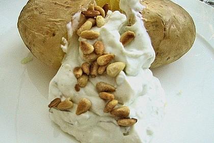Backkartoffeln mit Gorgonzola - Creme 4