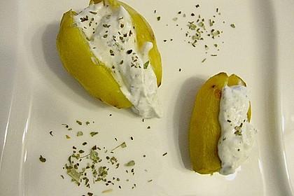 Backkartoffeln mit Gorgonzola - Creme 2