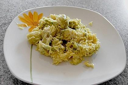 Scharfe Rosenkohl-Reis-Pfanne 7