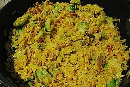Scharfe Rosenkohl-Reis-Pfanne 8