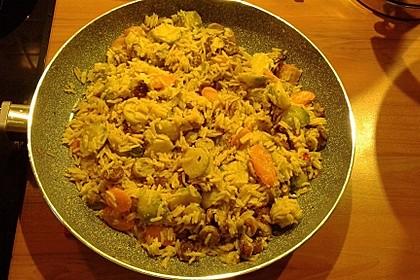 Scharfe Rosenkohl - Reis - Pfanne 21